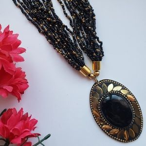 Gorgeous Necklace with multiple bead strands